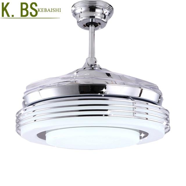 Chrome shade modern ceiling fan lights 4 leaf fan with remote chrome shade modern ceiling fan lights 4 leaf fan with remote plastic leaf fan light aloadofball Images