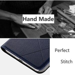 Image 2 - Funda de cuero hecha a mano para iphone, carcasa de cuero con tapa para iphone 11 Xs Max Xr X 8 Plus 7 Plus 6 6s Plus 5 5s SE, ranura para tarjetas