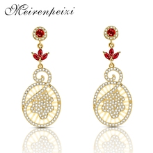 Exquisite High Quality Copper Earrings Round Small Gold Medal Red Leaves Embellished With Gorgeous Copper Zircon Earring Jewelry 0 7 200mm high quality copper strip sheet skin red copper purple copper foil copper plate