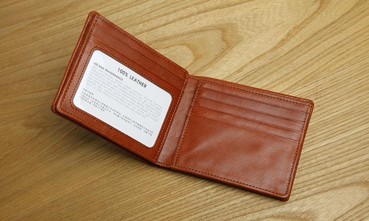 LAN mens leather short wallet horizontal small wallet multi holders