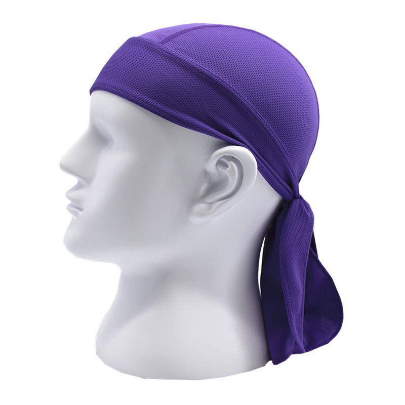 Sports soft equipment riding outdoor sports hat scarf breathable quick-drying sunscreen motorcycle cap color:purple