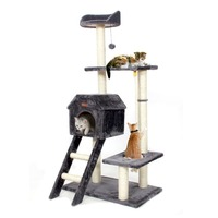 Domestic Delivery Cat Bed Climbing Tree Kitten Scratching Wood Furniture Suitable Kitten Playing Training For Fun