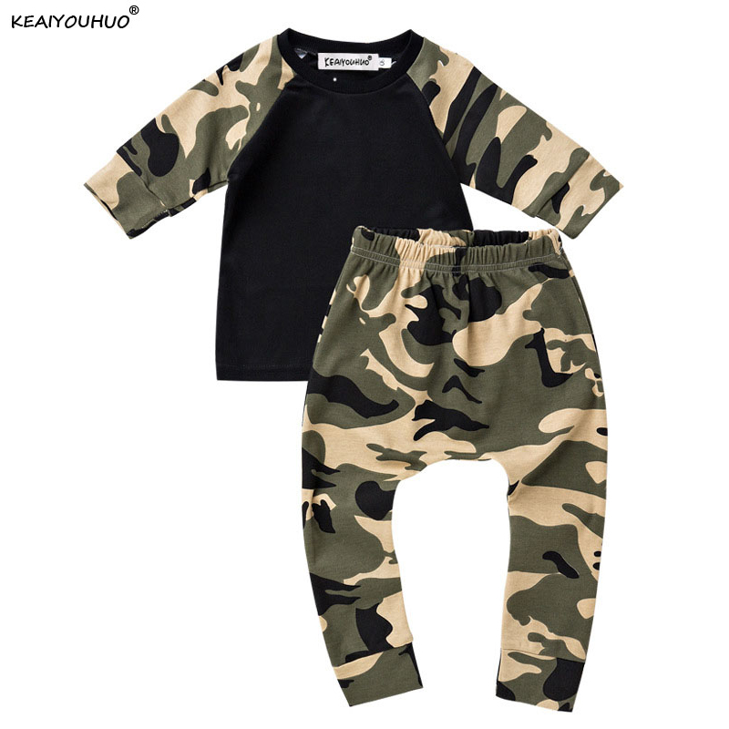baby boy camouflage spring 100 cotton clothing set ensemble vetement bebe garcon toddler boys. Black Bedroom Furniture Sets. Home Design Ideas