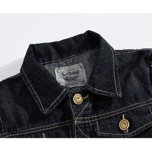 Image 3 - FALIZA Denim Vest Mens Jackets Sleeveless slim black Outerwear mens denim Coats jackets Tank Top Cowboy Male Ripped Jacket MJ I