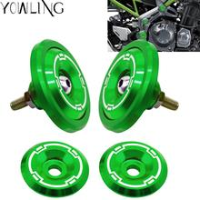 Motorcycle Accessories Z 900 Frame Hole Cap Cover With Screws Fairing Guard Decorative Cover Plug FOR Kawasaki Z900 2017 2018 цены