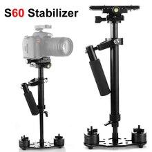S60 60 سنتيمتر صور فيديو سبائك الألومنيوم مثبت يدوي اطلاق النار ستيديكام DSLR ستيديكام للكاميرا كاميرا DSLR كانون نيكون