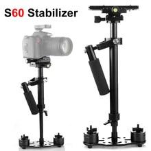 S60 60cm Foto Video Aluminium Legierung Handheld Stabilisator Schießen Steadycam DSLR Steadicam für Camcorder Kamera DSLR Canon Nikon