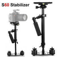 S60 60cm Photo vidéo en alliage d'aluminium stabilisateur de poche prise de vue stabilycam DSLR steeryam pour caméscope appareil Photo reflex numérique Canon Nikon