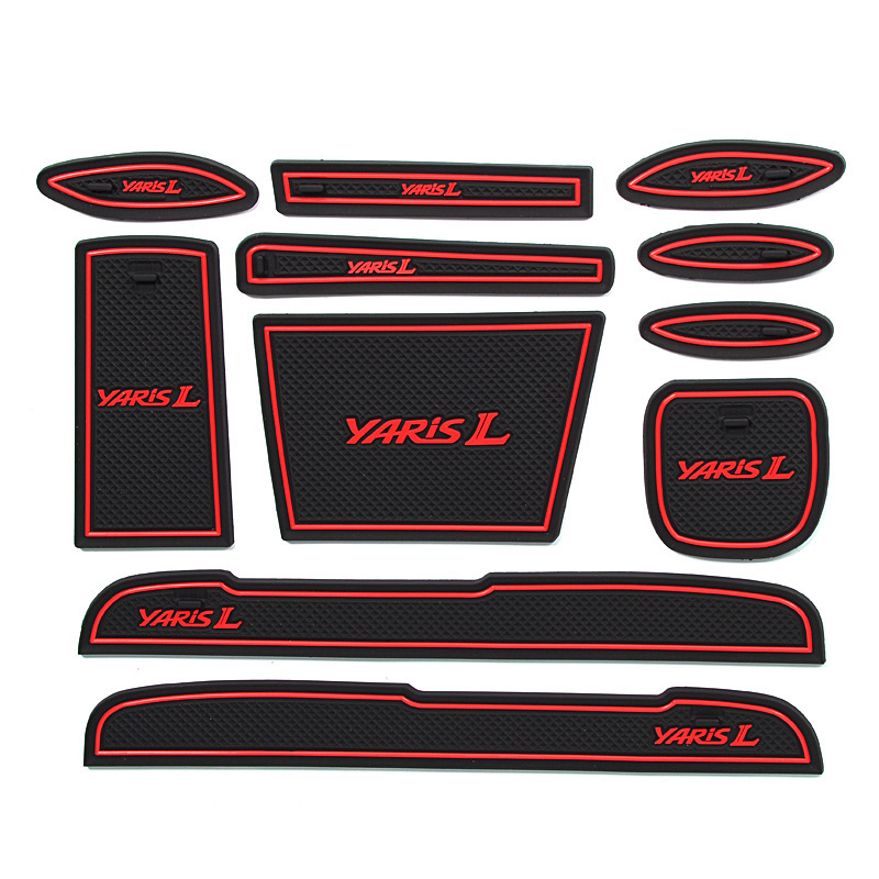 11pcs lot car interior upholstery for toyota yaris rubber - Toyota yaris interior accessories ...