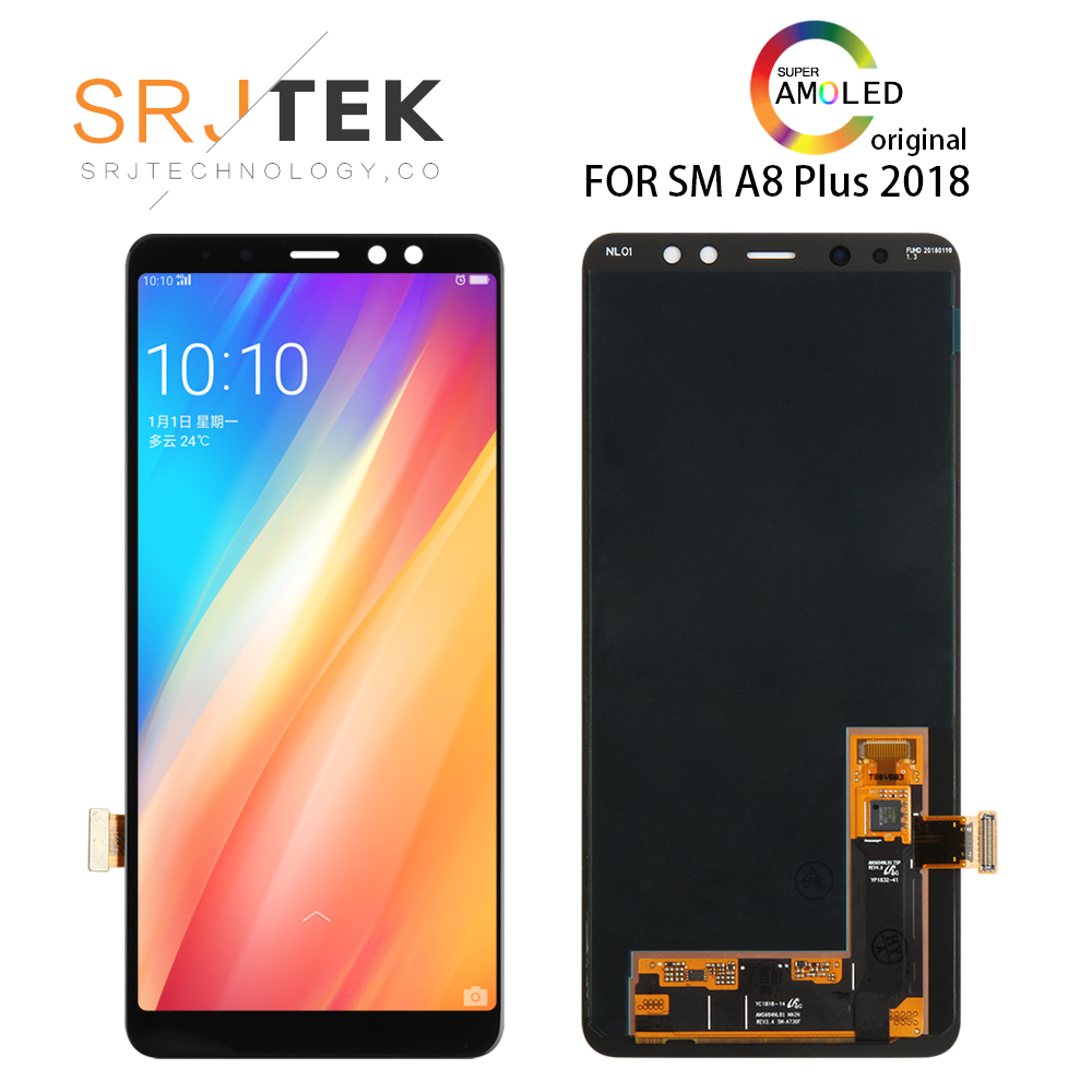 ORIGINAL 5.6'SUPER AMOLED LCD For Samsung Galaxy A8 2018 A530 <font><b>A530F</b></font> A530N A530DS LCD Display Touch <font><b>Screen</b></font> Assembly <font><b>Replacement</b></font> image