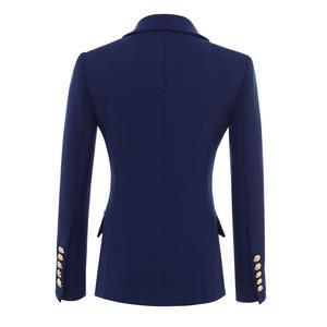 Image 2 - عالية الجودة موضة جديدة 2020 مصمم سترة المرأة أزرار الذهب مزدوجة الصدر السترة ملابس خارجية حجم S XXXL