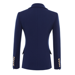 Image 2 - HIGH QUALITY New Fashion 2020 Designer Blazer Jacket Womens Gold Buttons Double Breasted Blazer Outerwear size S XXXL