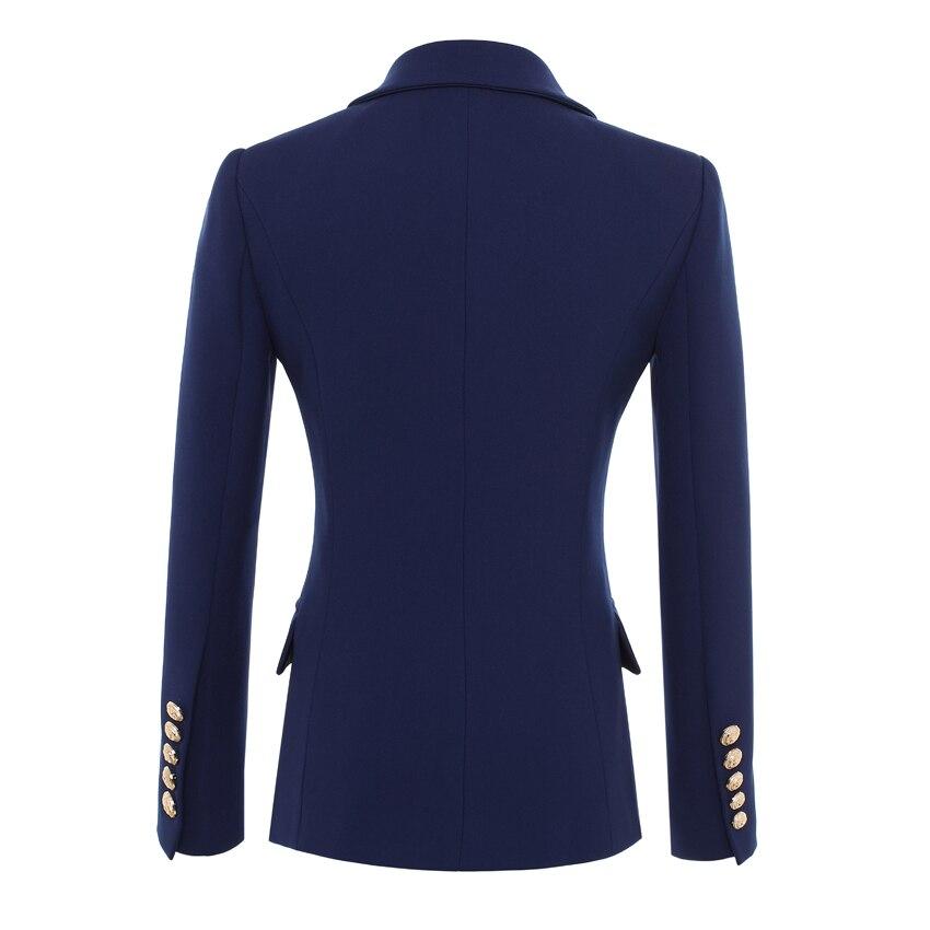 Haute qualité nouvelle mode 2019 Designer Blazer veste femmes boutons en or Double boutonnage Blazer extérieur taille S-XXXL - 2
