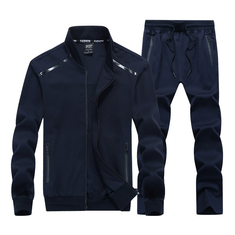 9XL Spring Autumn Men Sportswear Tracksuit Zip Jacket Coat Sweatshirt pant Running Jogger Casual Fitness Outfit Set Sport Suit in Running Sets from Sports Entertainment
