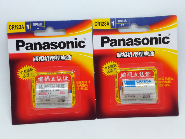 8pack/lot New Genuine Panasonic CR123A CR 123A 3V Lithium CR17345 Battery Camera Non-rechargeable Batteries