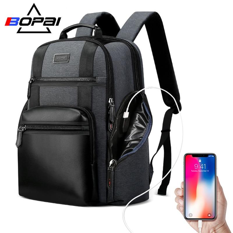 BOPAI plecak na laptopa USB ładowania mężczyźni torba wielofunkcyjna duża pojemność Anti theft biznesu torba wodoodporna męski plecak podróżny w Plecaki od Bagaże i torby na  Grupa 1