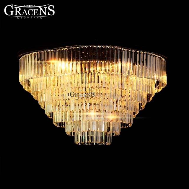 Novelty Crystal Chandeliers Lightings E14 Suspension Hanging Light Fixture For Aisle Hallway Porch Staircase