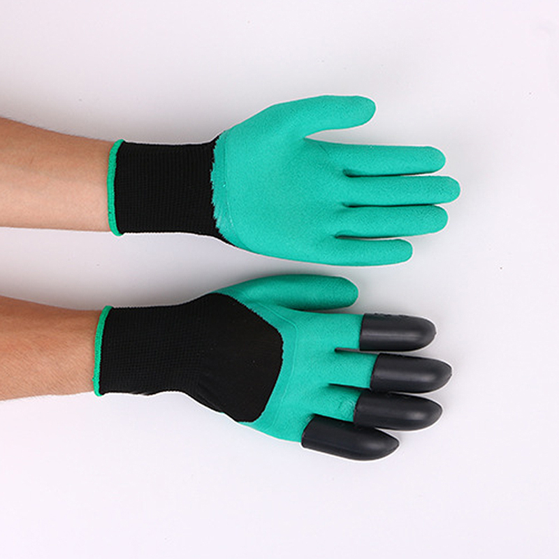 Hot Sale Garden Gloves,Gardening Gloves Fingertips Right Claws Quick Easy to Dig and Plant(2 pairs) ...