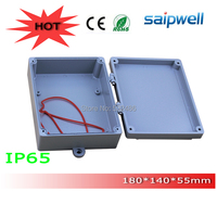 20145 Hot Sale IP66 Extruded Aluminum Boxes Case with Hinges and 4 screws 180*140*55mm High Qulity