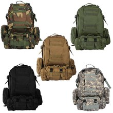 50L Military Tactical Backpack Waterproof 600D Nylon Rucksacks Outdoor Travel camping Hiking Sport Military Backpacks bags