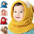 Chapéu De Lã novidade Bonito Cachorro Criança Ouvidos Gorro de Cashmere Xale chapéu One piece-Neck Chapéu Morno do Inverno Para O Menino & Menina bebê
