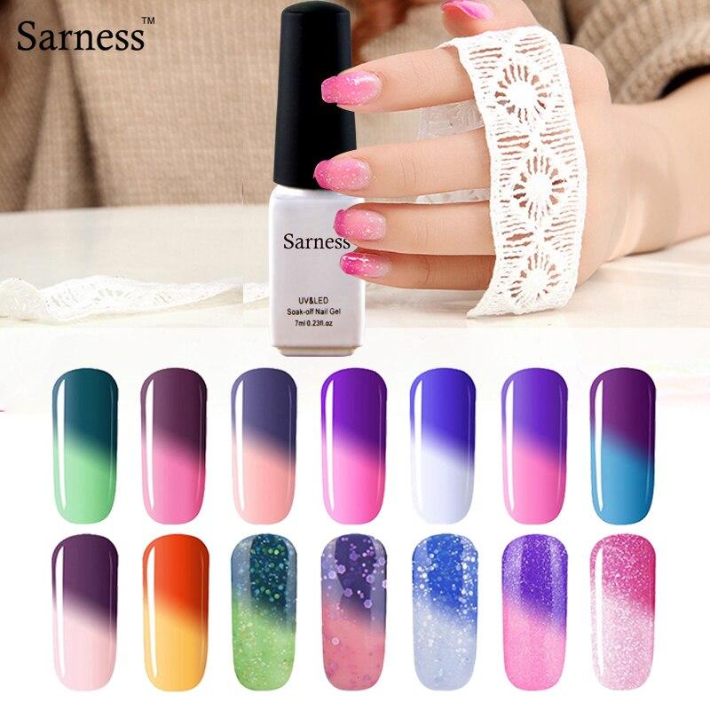 Sarness Thermo gel Varnish Temperature Change font b Nail b font Mood Color UV font b