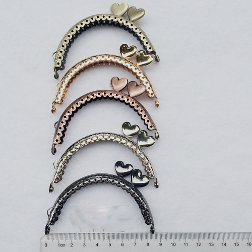 8.5cm cute side heart buckle mini purse metal clasp coin bag accessories frame mouth golden  10pcs/lot 8.5cm cute side heart buckle mini purse metal clasp coin bag accessories frame mouth golden  10pcs/lot