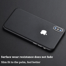 Vinyl Leather Texture Sticker SkinN For iPhone Xs Max Xr Xs Back