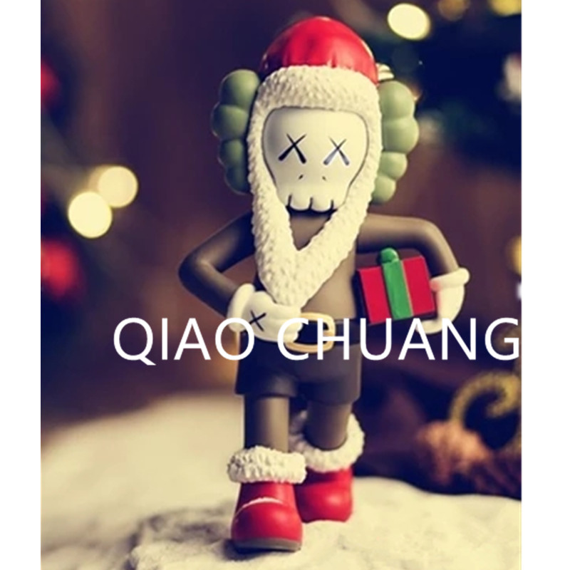 Cartoon Santa Claus KAWS Medicom Toy Street Art OriginalFake PVC Action Figure Model Toy Christmas Present G1094 28 70cm 1000% bearbrick be rbrick attack on titans action toy figure medicom toy art work great gift for friends