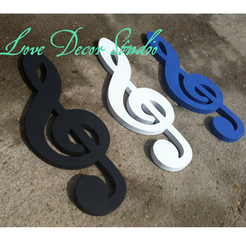 1 package three letters note treble clef sign wall decor music art sign rustic primitive sign wall hanging,home decor music sign