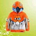 Polvoriento Crophopper Outwear Hoodie de Los Muchachos al por menor de Alta Calidad de Color Naranja Niños Aviones Niños Ropa de Abrigo En Forma 3-10Years X103