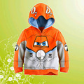 Retail High Quality Boys Hoodie Dusty Crophopper Outwear Orange Color Children Coat Planes Kids Clothes Fit 3-10Years X103