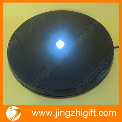 25cm Rotating Crystal Display Base Stand LEDs Brightness