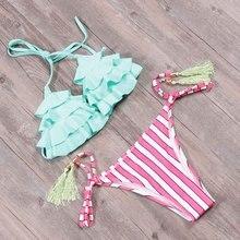 TQSKK New 2019 Sexy Halter Swimwear Bikinis Women Swimsuit Female Summer Bikini Set Beach Swim Wear Printed Bathing Suit Biquini