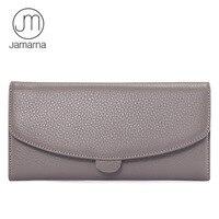 Jamarna JM Genuine Leather Full Grain Female Wallet Zipper Coin Pocket Card Holder Purse High Quality