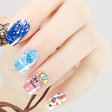 OUTTOP Fashion Hot Summer stamping 3D Nail Art Stickers Decals For Nail Tips Decorations Drop Shipping J29