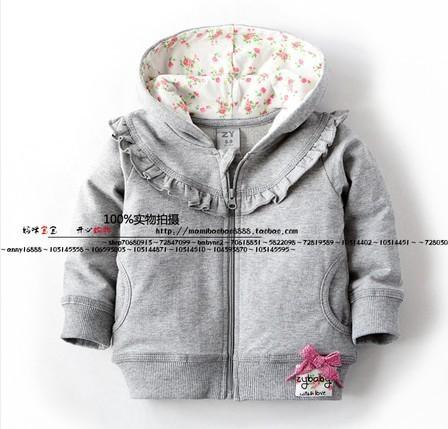 Primavera e outono roupa infantil para crianças pequenas outerwear pequeno top cardigan da longo-luva brasão para o bebê meninas