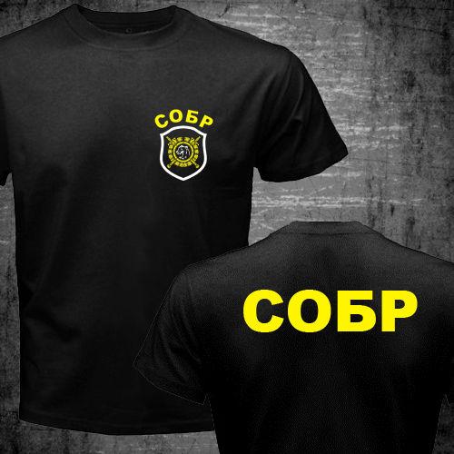 4d62d4abc81a4 Força Spetsnaz russo Especial T shirt homens dois lados Especial GOLPE  Unidade de Resposta rápida SOBR presente tee camisa casual EUA tamanho S  3XL em ...
