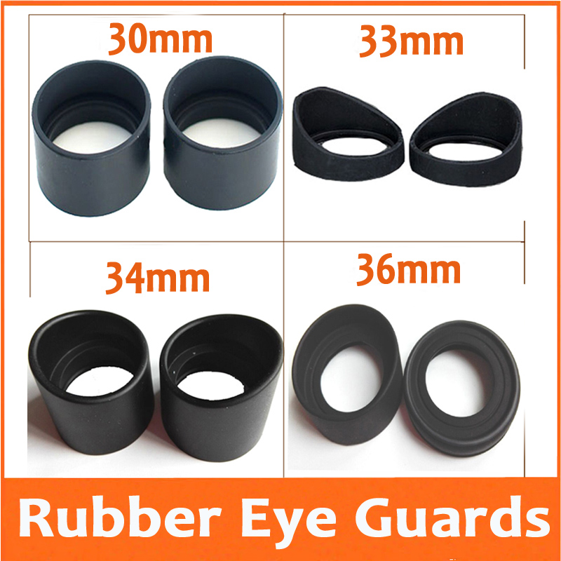 2PCS Various Biological Stereo Microscope Telescope Monocular Binoculars Use Rubber Eye Guards Cylinder Eye Shield Cups