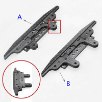 CNC Front Carbon Fiber Bracket Brake Plate With Angle Spring Slot For Tamiya Mini 4WD Racing