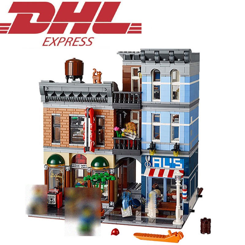 2262Pcs 30008 LELE City Figures Detective's Office Model Building Kits Blocks Bricks Toy For Children Gift Compatible With 10246 10646 160pcs city figures fishing boat model building kits blocks diy bricks toys for children gift compatible 60147