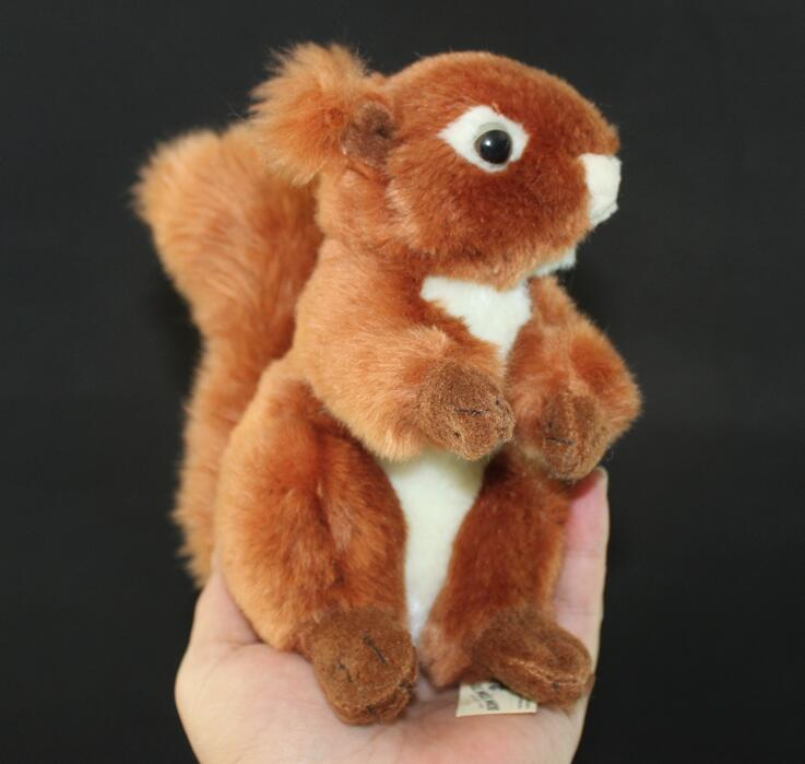 cute squirrel plush toys simulation animals toy child valentines gift red squirrel doll