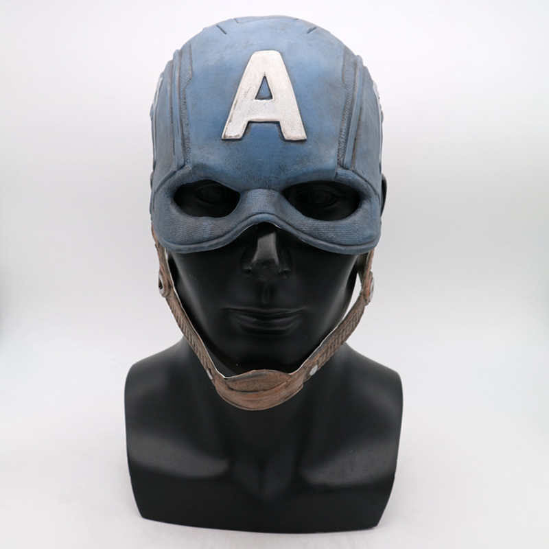 Movie 3 Civil War Captain America Latex Mask Cosplay Steven Rogers Superhero Latex Helmet Kids Adult Cosplay Props in Boys Costume Accessories from Novelty Special Use