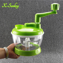 Multi-function Kitchen Manual Food Processor Household Meat Grinder Vegetable Chopper Quick Shredder Green Cutter Egg Blender