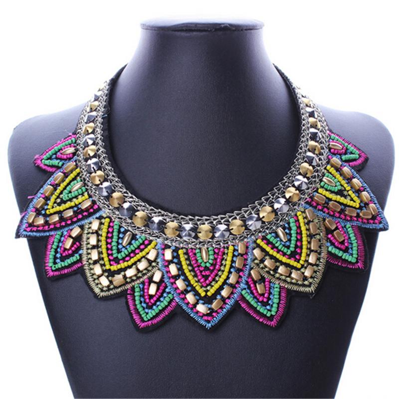 Female vintage choker pendants&necklaces big boho necklaces ethnic bohemian jewelry statement tribal Colorful bijoux femme mujer 13