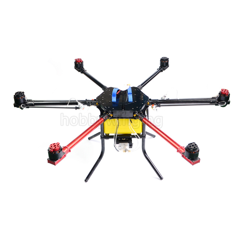 6-axis Spray pump Agriculture drone w/5KG/5L spraying gimbal system 1050mm Wheelbase Folding UAV Hexacopter pastoralism and agriculture pennar basin india