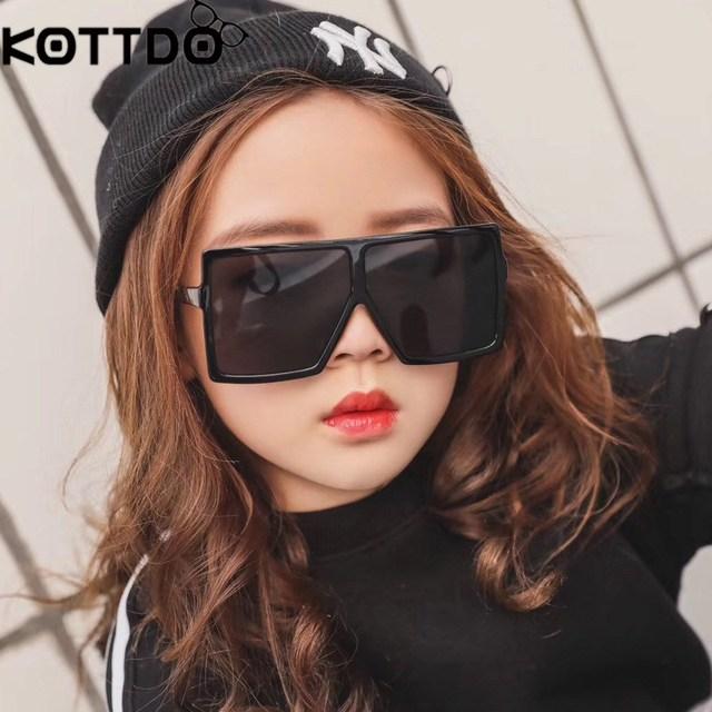 c09d8f134159 Round Sunglasses Girls Kids Baby Boys Black Sunglasses Uv400 Big Glasses  Frame Children Eyeglasses Oculos De Sol