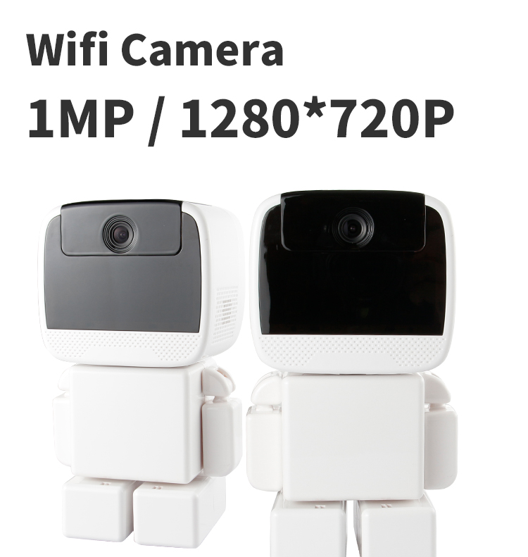 PUAroom Brand pan tilt rotation robot security camera with sim card supported intercom phone app control rotation movements of robot manipulators in 1