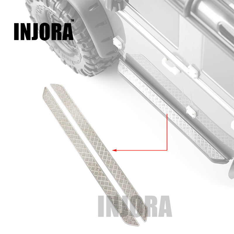 2PCS TRX4 Metal Pedal Anti-Skid Plate for 1/10 RC Crawler Traxxas TRX-4 Trx 4