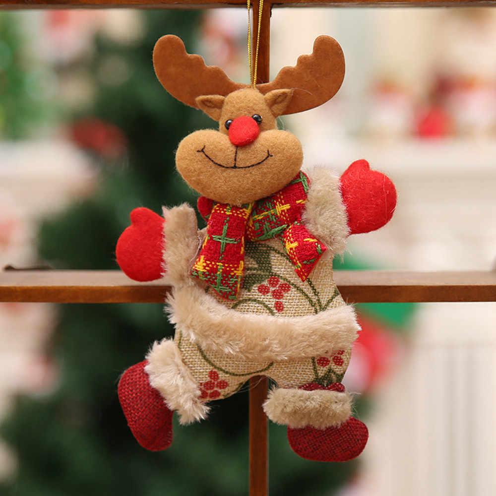 Ornamenti di natale Regalo di Natale Babbo Natale Pupazzo di Neve Renne Giocattolo Bambola Nuovo Anno A Casa Decorazioni Hang Regalo 2019 Ornamento #15